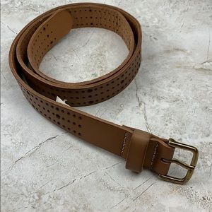 BOHO-THIN LIGHT BROWN CUTOUT BELT-M